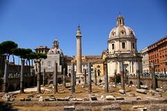 Basílica Ulpia y Columna de Trajano