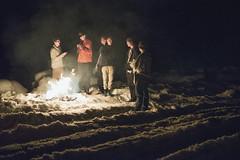 Bonfire on a foot of snow (David Corsen) Tags: winter washington break fort smoking bonfire knox nox
