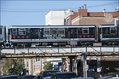 The 'L' over North Halsted Street Chicago (IL) September 2015 (Ron Cogswell) Tags: subway thel chicagoil theelevated roncogswell thelovernorthhalstedstreetchicagoil thechicagoilelevatedthe