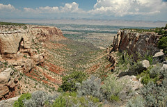 Columbus Canyon (Colorado National Monument, Colorado, USA) 3 (James St. John) Tags: columbus black monument sandstone colorado canyon formation national hematite jurassic shale schist wingate precambrian chinle triassic gneiss redbeds siltstone paleoproterozoic proterozoic hematitic