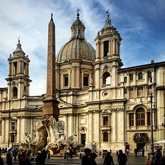 piazzanavona #Roma #europe #europa #view #braziltravelers... (polimerase) Tags: travel rome roma art history church arquitetura europa europe view arte amateur piazzanavona historia outono constructions igrejas lovethisplace hotshotz iphonecamera velhomundo instapic beautifuldestinations uploaded:by=flickstagram instagram:venuename=piazzanavona myflagrants greatshotz instagram:venue=336844629 braziltravelers instagram:photo=111533558909893402130836522