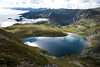 The kidney (PicTiho) Tags: lake mountains water clouds trek landscape outdoor hill lakes bulgaria rila serene mountainside