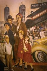 "Lucien Labaudt's ""Powell Street"", #2 (Greatest Paka Photography) Tags: sanfrancisco art mural coittower powellstreet beachchalet lucienlabaudt"