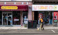 Morning Cleaning (barrydelongphotography) Tags: streetphotography georgetown logcabin streetsweeper