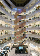 Spiral Escalators (Chris Lue Shing) Tags: china architecture mall shopping spiral design store shanghai interior escalator departmentstore luxury nanjingroad shanghaishi chrislueshing newworlddaimaru