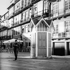 The newspaper kiosk... closed today... (Srgio Miranda) Tags: street blackandwhite bw 6x6 portugal monochrome mediumformat photography streetphotography porto ilford ilforddelta400 analogphotography 120mm kiev88 delta400 filmphotography ilforddelta kiev88cm filmisnotdead srgiomiranda squarephotography arsat80mm sergiomiranda
