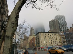 Sunday in New York - Clouds over the Skyline (Pushapoze - toujours en retard) Tags: skyline clouds upperwestside brume uws timewarnercenter 9thavenue