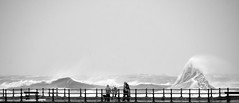 Stormy Weather (Barry MacDonald 52) Tags: new blackandwhite storm monochrome high brighton outdoor tide gales conditions