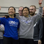"<b>Track and Field Alumni Meet</b><br/> Luther hosts a Track and Field meet with both current athletes and alumni competing with each other in the Regents Center. February 6, 2016. Photo by: Annie Goodroad '19<a href=""http://farm2.static.flickr.com/1480/24292096453_2688e74457_o.jpg"" title=""High res"">∝</a>"