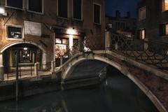 ai gondolieri (cherryspicks) Tags: city bridge venice windows urban italy water architecture night buildings canal shadows passage gondolieri