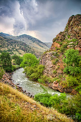 Clear Creek and Flume (AP Imagery) Tags: storm mountains water rain creek golden colorado rapids valley flume rushing clearcreek
