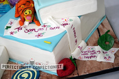 Sophia - Christening Cake / Naming Day Cake (PerfectionistConfectionist) Tags: birthdaycake winniethepooh caketoppers christeningcake bookscake namingdaycake cakesmalahide cakesdublin guesshowmuchiloveyoucake cakesclonsilla