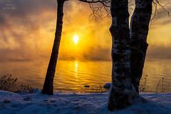 Smoke on the Water (Boreal Bird) Tags: winter sunrise steam lakesuperior seasmoke deeppurple fireandice smokeonthewater maryamerman