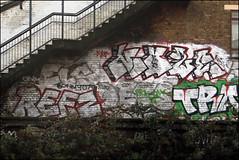 Noze, Refz, Dets... (Alex Ellison) Tags: urban graffiti boobs railway graff eastlondon trackside dets noze refz