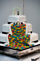 An amazing lego wedding cake. Kat and Oli's wedding day - photography and videography by Veiled Productions - wedding photography and videography Cambridgeshire