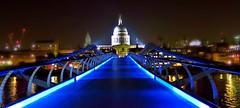 blue (poludziber1) Tags: city bridge blue urban london church night river colorful capital challengeyouwinner