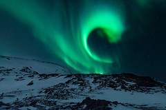 Aurora Borealis (Lenny K Photography) Tags: trip travel winter sky snow cold color green ice k norway photoshop landscape photography lights photo nice fantastic scenery colours angle image 14 north wide creative remix free commons 11 lenny cc commercial elements aurora use land 12 northern scape non 13 toolkit edit northernlights borealis boreal actions troms noncommercial distribute lennykphotography