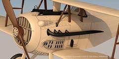 SPADXIII-WIP 81 (StratoArt) Tags: history 3d aircraft aviation military wwi cinema4d warbird biplane warplane spad xiii