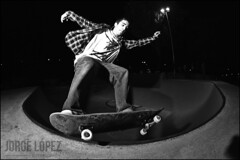 Diego Portilla - Frontside grind around the corner (jopez _fotografia) Tags: bw white night corner concrete spain skateboarding diego bowl fisheye skatepark skate blac grind santander cantabria frontside transitions porti lavaca coping portilla jorgelpez jopez santanderskateboarding jopezphotography