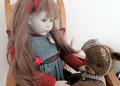 Companions (elletee42) Tags: bear doll beth 1991 porcelain roche balljointed artistteddybear nadiasuvorova lynneandmichaelroche smallbeth