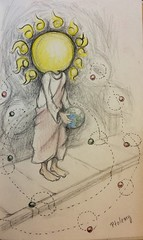 Ptolemy (three_point) Tags: pen pencil sketch sketchbook astronomy colorpencil ptolemy