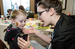 Face painting--and another use for the phone