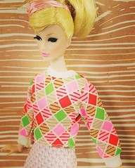 George diamond vintageness! Buy it now at  http://tinyfrockshop.com/collections/new-items/products/barbie-geo-diamond-top Tinyfrockshop.com  #tinyfrockshop #barbiedoll #barbieclothes #barbiecollector  #integritytoys #integritytoysdolls #geometric #diamond (Tinyfrockshop.com - Resale Barbie Store) Tags: square squareformat mayfair iphoneography instagramapp uploaded:by=instagram