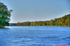Kankakee River (Anton Shomali - Thank you for over 700K views) Tags: bridge blue trees sky usa green fall nature water yellow america river season us illinois flickr unitedstates outdoor sony united bluesky bradley states autofocus kankakee bourbonnais kankakeeriver dslra850