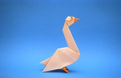 Origami Goose (Orimin) Tags: bird animal paper origami handmade farm craft goose papercraft mindaugas cesnavicius