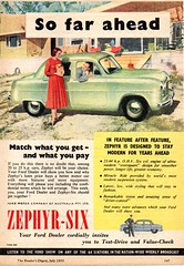 1955 Ford Zephyr-Six Mark I Aussie Original Magazine Advertsement (Darren Marlow) Tags: 1 5 9 19 55 1955 f ford z zephry s six sedan m mark c car cool collectible collectors classic a automobile v vehicle e english england b british britain 50s