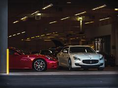garage (Richmond 9) Tags: ferrari maserati quattroporte