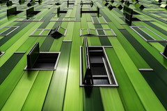 Grass (Maerten Prins) Tags: madrid new windows color colour building green lines wall modern facade vanishingpoint spain perspective line achitecture spanje upshot explored