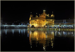 The Golden Temple,Amritsar (mala singh) Tags: india water night reflections amritsar sikhism goldentemple