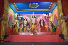 Ensemble with goddess Durga (VinayakH) Tags: india religious temple delhi hindu hinduism chattarpur katyayani