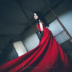 (G i a c o m o - M a c i s) Tags: red portrait abandoned canon model dress decay room portraiture elegant modelling elegance laced 5dmk2