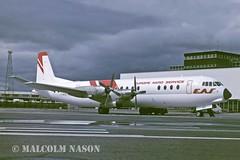 VICKERS 952 VANGUARD F-BVUY EUROPE AERO SERVICE (shanairpic) Tags: shannon vanguard eas propliner vickersvanguard europeaeroservice fbvuy