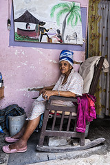 Dreaming By the Sea (LEG work) Tags: old portrait woman chair havana cuba age rocking