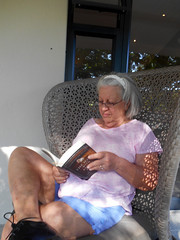 Reading on the Patio (RobW_) Tags: africa reading march estate wine south sunday jordan patio western cape stellenbosch ritsa 2016 06mar2016