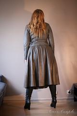 elle215 (Cuir Couple) Tags: leather bondage skirt bdsm master jacket jupe mistress veste leder matre pant pantalon cuero cuir hosen cravache maitresse martinet cuissardes