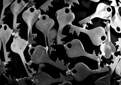 Keyed (Strangerviews) Tags: white black macro art keys nikon welding 105mm d7100