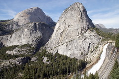 Half Dome, Mt. Broderick, Liberty Cap and Nevada Fall in Yosemite (GMLSKIS) Tags: california waterfall nationalpark yosemite halfdome libertycap nevadafall mtbroderick