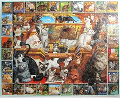 The World of Cats (Ernest Brown) (Leonisha) Tags: cats chats puzzle katzen jigsawpuzzle katzenrassen
