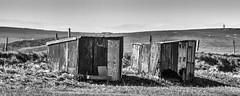 old sheds looking rough (HHH Honey) Tags: bw fence landscape blackwhite spring coastal devon rough 43 sheds rivertaw horseyisland sony70300g sonya7rii 116picturesin2016 43rough minimoonxi horseysands pillsmouth