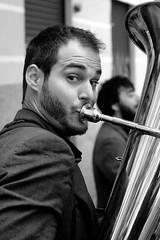 Jingle Django at Madrid (ikimilikili-klik) Tags: madrid bw musician espaa music byn spain noiretblanc bn msica espagne msico musicien musika 50mmf14d nikkor50mm d700 nikond700 jingledjango musieque