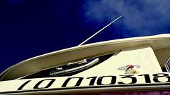 Fishing boat in blue sky (patrick_milan) Tags: blue sky white boat brittany ship bretagne bleu ciel bateau blanc ploudalmezeau porsall