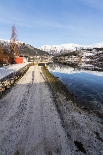 A small beach in Ulvik, Hardanger