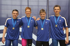 Boys 14-16yrs 4x100m free gold medallists (scottishswim) Tags: swimming glasgow age championships groups scottishswimming
