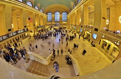 fisheye photography: the always-crowded grand central station in nyc (norlandcruz74) Tags: street new york nyc ny field station hub composition lens point photography nikon long exposure photographer dof slow view angle pov central wide perspective grand fisheye cruz transportation shutter filipino manual framing 8mm viewpoint ultra depth pinoy bower 42nd dx norland d5100