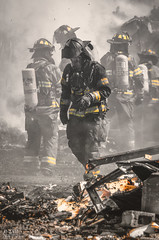 Firefighter (D-TaiL) Tags: city color fire hall nikon smoke qubec fireman firefighter pompier selective saintejulienne d7000 dtailvision