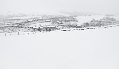 Padfield Snow (Celtic-Wanderer) Tags: winter snow ice nature landscape nikon village derbyshire hills whiteout highpeak padfield d5000 littlepadfield